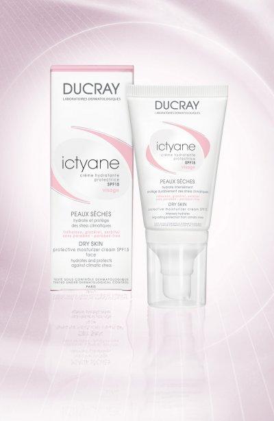ictyane crema hidratante protectora facial de ducray
