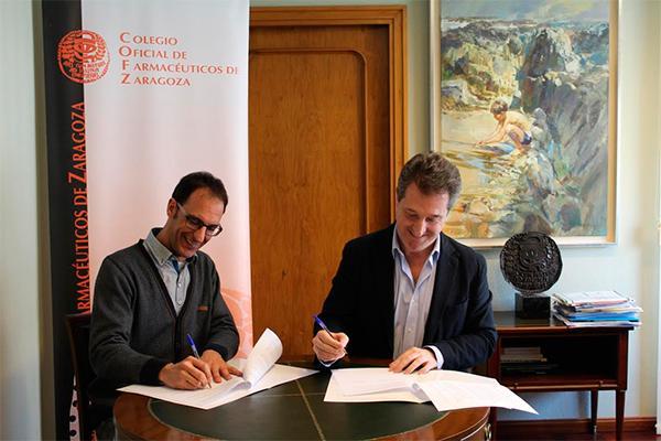 el cof de zaragoza firman un convenio con farmamundi para defender la salud universal