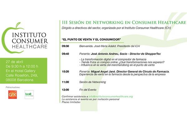 instituto consumer healthcare organiza la iii sesion de networking en consumer healthcare