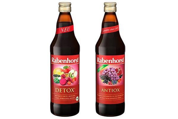 natur import apuesta por los zumos antiox y detox de rabenhorst