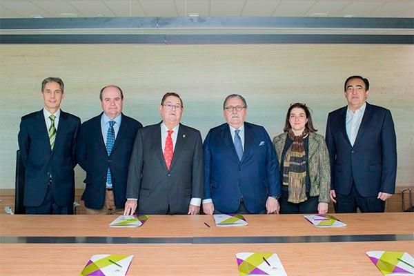 novaltia recibe la visita de los maximos representantes de la camara de comercio zaragozana