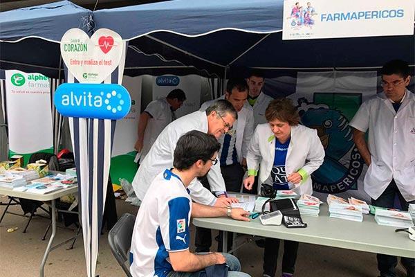 alphega farmacia y alvita protagonistas en la jornada de la salud del rcd espanyol