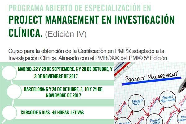 cesif abre la convocatoria del iv pae en project management en investigacion clinica