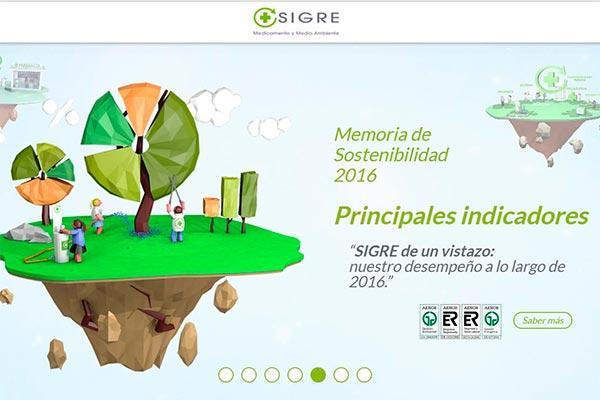sigre hace publica su memoria de sostenibilidad de 2016