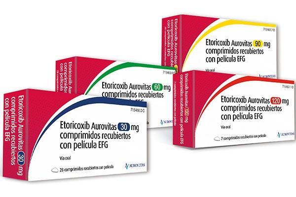 aurovitas lanza al mercado el generico de etoricoxib un antiinflamatorio y antirreumatico no esteroideo