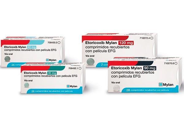 mylan lanza etoricoxib 30 60 90 y 120 mg efg