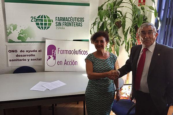 acuerdo de colaboracin entre farmacuticos sin fronteras y farmacuticos en accin