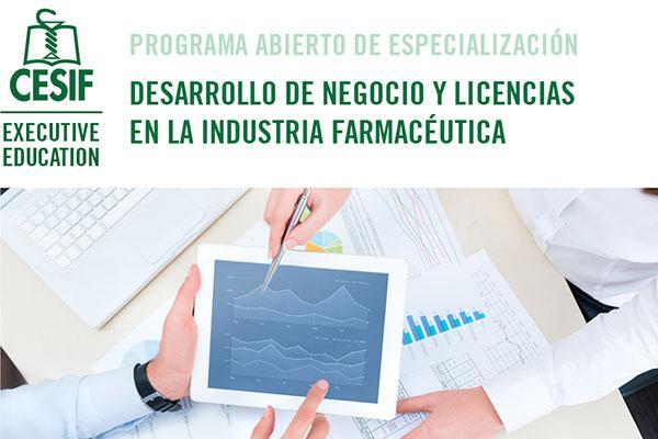 cesif convoca en barcelona el programa desarrollo de negocio y licencias en la industria farmacutica