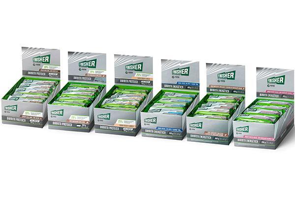 nuevas barritas energeticas y barritas proteicas en la gama finisher de kern pharma