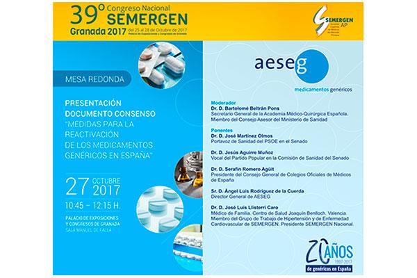 aeseg llevara las medidas consensuadas para reactivar los genericos al 39 congreso de semergen