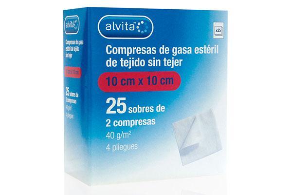 alvita presenta las nuevas compresas de gasa esteril de tejido sin tejer