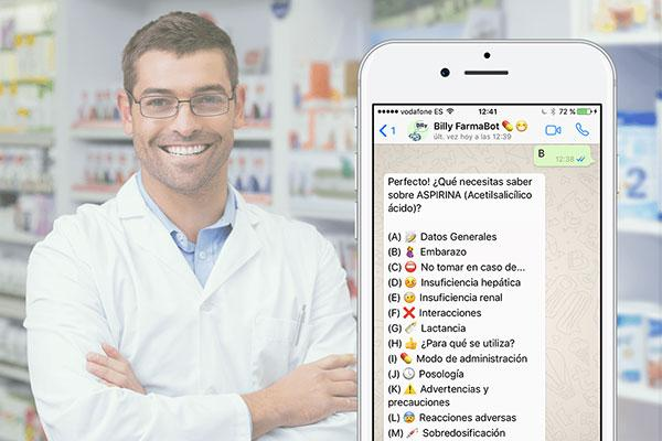un farmaceutico de bolsillo disponible las 24 horas con billy farmabot