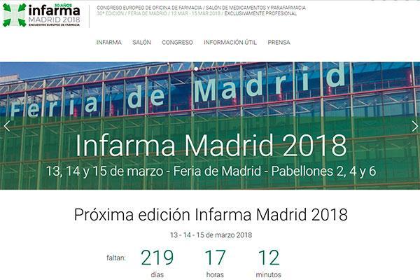 infarma madrid 2018 abre su portal online a la participacion de congresistas ponentes y expositores