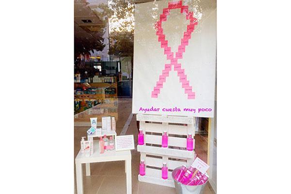 ozoaqua donara el 10 de sus ventas de octubre en farmacias de benidorm para luchar contra el cancer de mama