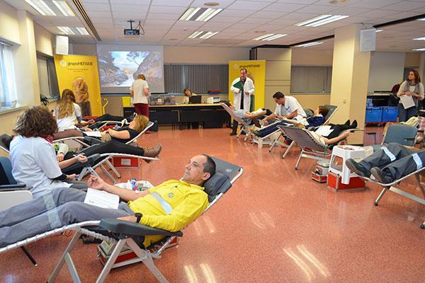 grupo hefame organiza una nueva campana de donacion de sangre y medula