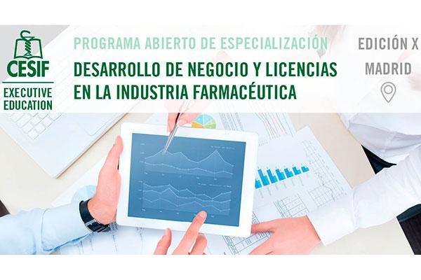 cesif convoca la x edicion del programa desarrollo de negocio y licencias en la industria farmaceutica