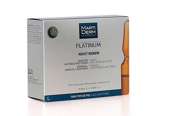 martiderm lanza las nuevas ampollas renovadoras de noche night renew