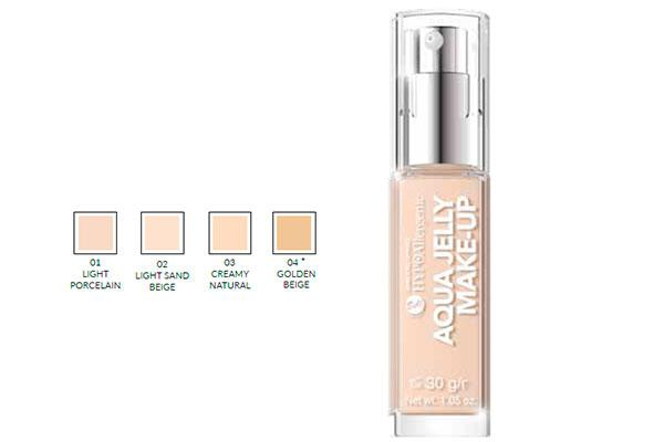 perfecta y natural con la nueva base de maquillaje aqua jelly