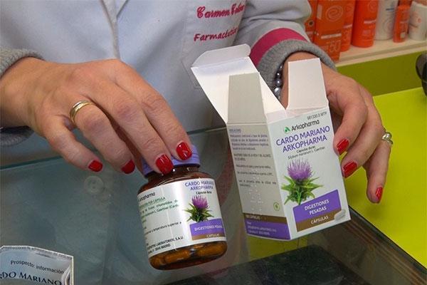 preparados farmaceuticos de cardo mariano para proteger el higado y aliviar los trastornos digestivos