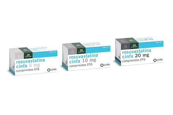 cinfa lanza el generico rosuvastatina