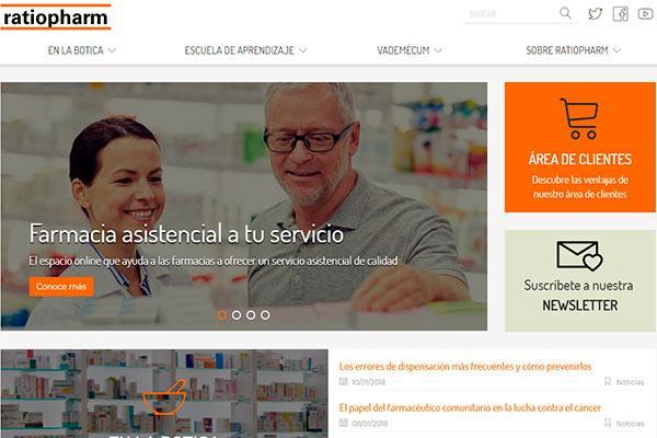 el farmaceutico tiene toda la farmacia asistencial a un solo clic en la renovada web de ratiopharm