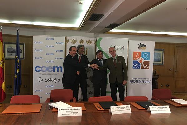 los farmaceuticos de madrid firman una alianza con otras profesiones del sector