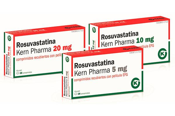 kern pharma lanza tres nuevas presentaciones de rosuvastatina efg