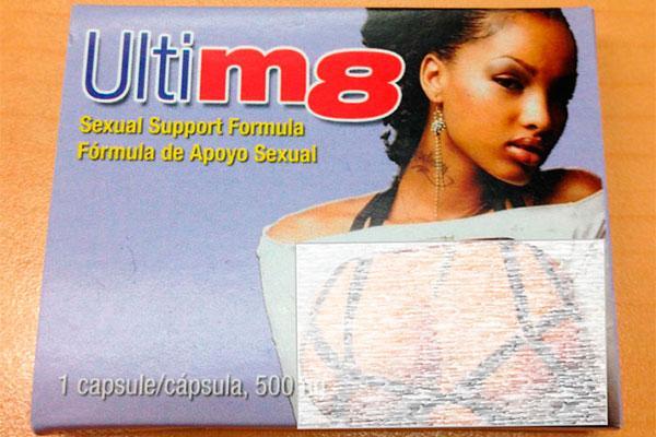 retiran del mercado el complemento alimenticio y estimulante sexual ultim8 cpsulas