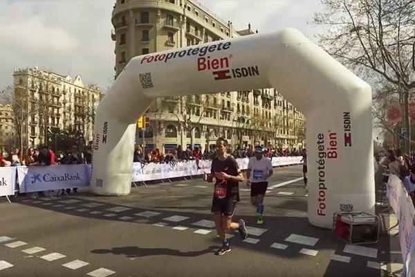 isdin fotoprotector oficial de la 40 maraton de barcelona