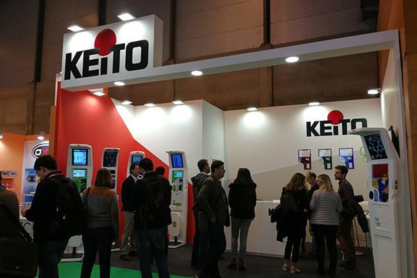 keito da a conocer el equipo electromedico k9 tactil en infarma 2018
