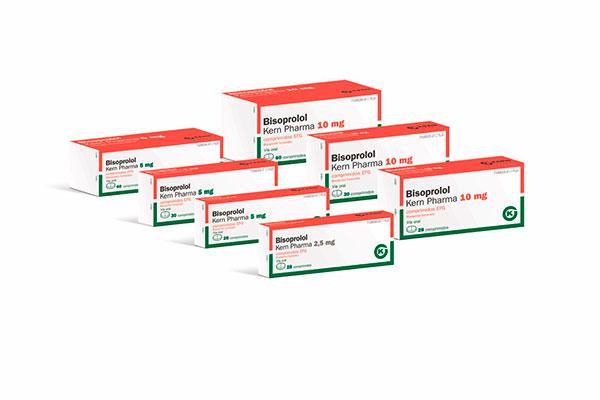 kern pharma lanza siete presentaciones de bisoprolol
