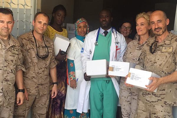 omfe y la fundacion cofares donan un cargamento de medicamentos en senegal