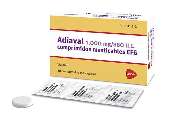 adiaval los comprimidos masticables que contienen calcio y vitamina d
