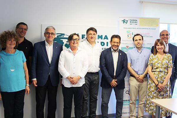 el consell de collegis farmaceutics de catalunya visita farmamundi