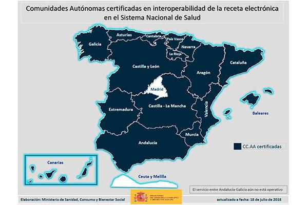 mas de 40 millones de espanoles ya pueden beneficiarse del sistema de interoperabilidad de la receta electronica
