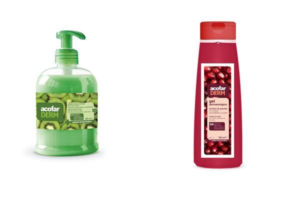 acofarderm extracto de granada y celulas frescas de kiwi para una piel limpia y suave