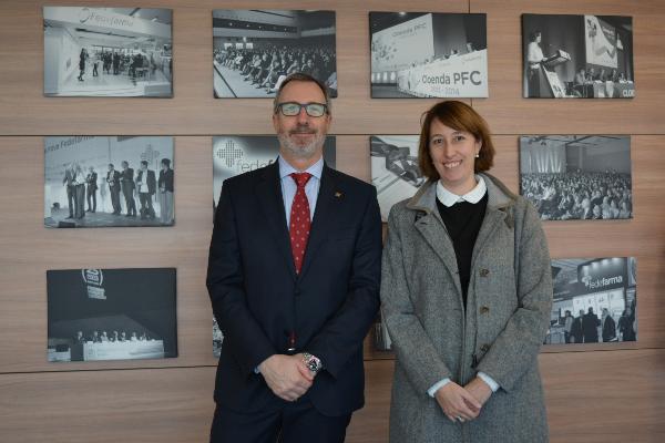 fedefarma se reune con la presidenta de la comision de salud del parlamento de cataluna