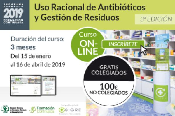 cgcof y sigre ponen en marcha el curso uso racional de antibioticos y gestion de residuos