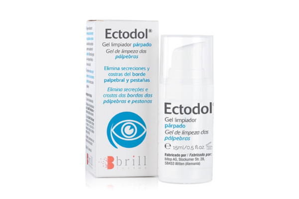 ectodolsupsup gel limpiador parpados elimina secreciones y costras del borde palpebral y pestanas