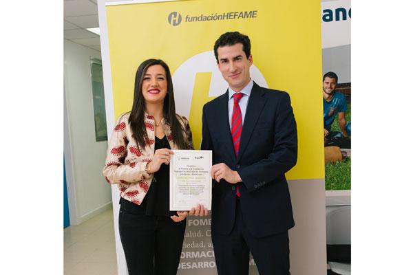 fundacin hefame entrega uno de los premios adefarma a la excelencia trabajo fin de grado de farmacia