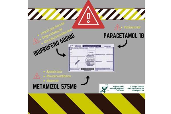 el cof de gipuzkoa alerta de los riesgos que conlleva el consumo de determinados medicamentos sin control medico
