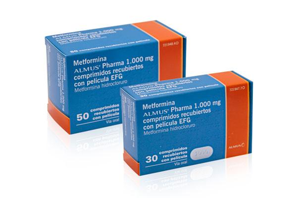 almus amplia su gama de genericos con metformina almus pharma 1000 mg