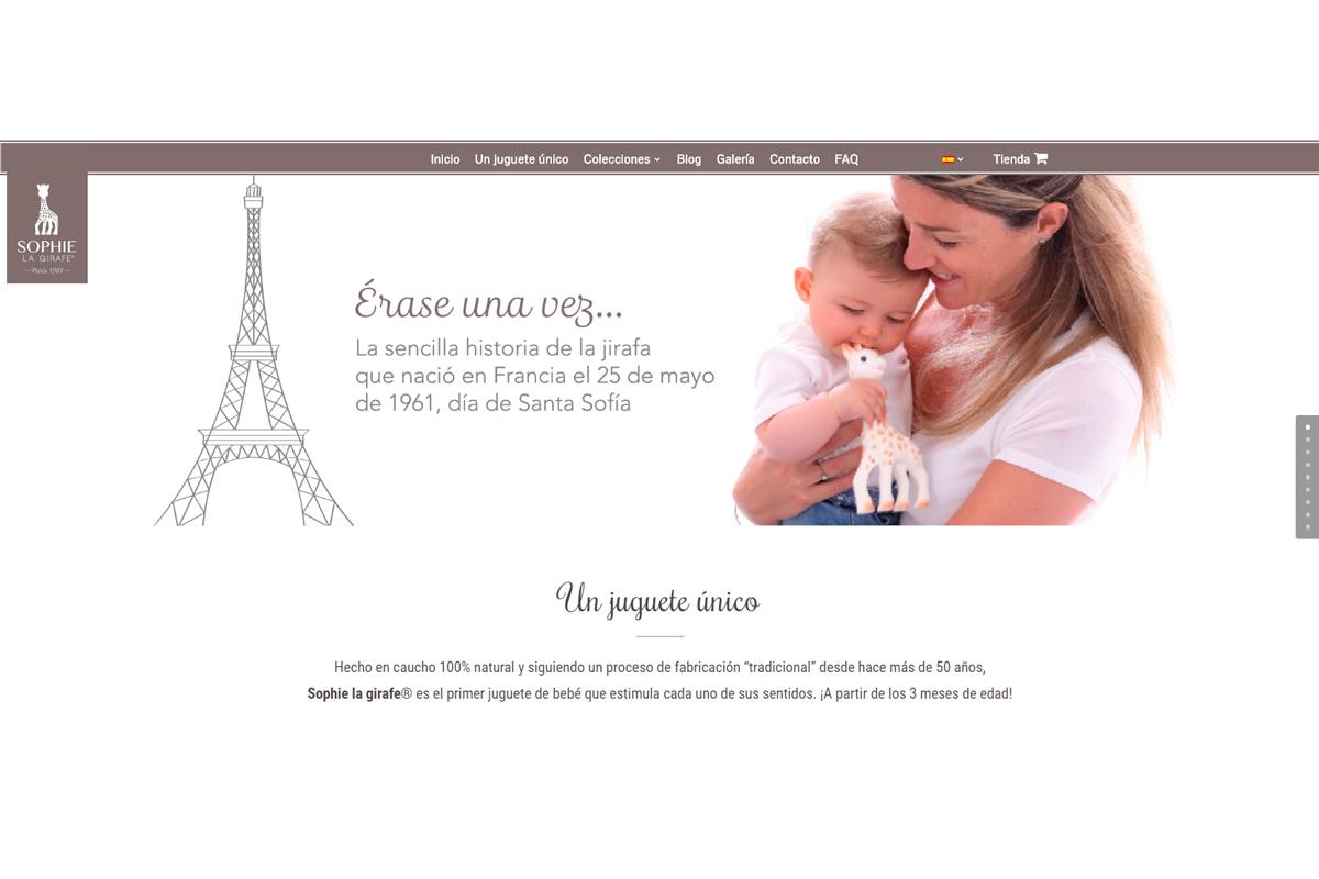 sophie la girafe lanza su nueva web en espana y portugal