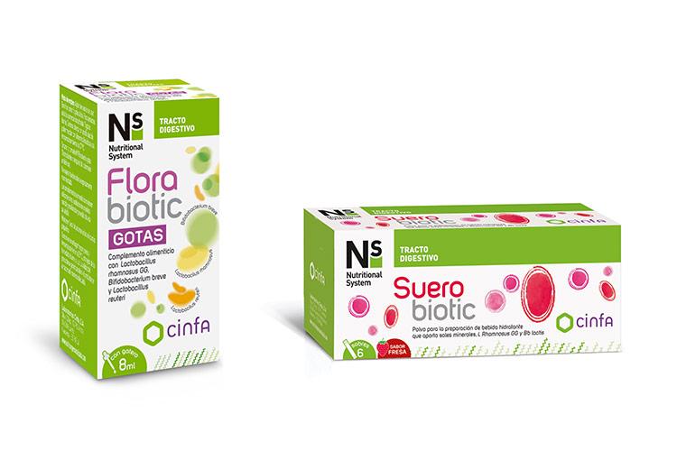 Nuevo N<sup>s</sup> Florabiotic Gotas y N<sup>s</sup> Suerobiotic Fresa, soluciones para la salud digestiva de los más pequeños