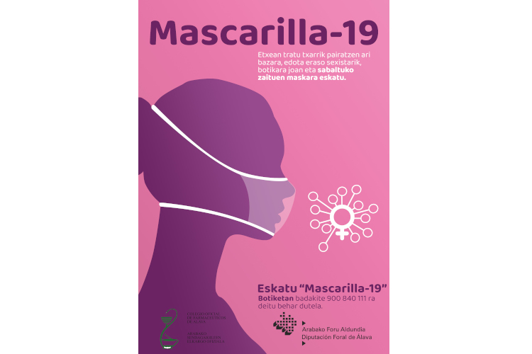 Álava se suma a la campaña `Contra la violencia de género, Mascarilla 19´