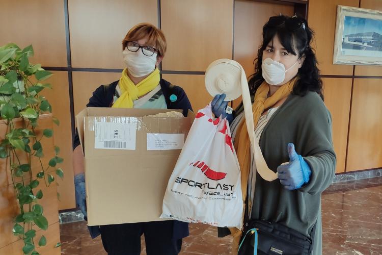Medilast fabrica mascarillas y dona material a entidades locales para su fabricación doméstica