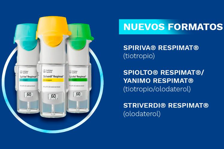 El nuevo Respimat<sup>® </sup>recargable, ya disponible para los broncodilatadores Spiolto®, Yanimo® y Striverdi<sup>®</sup>