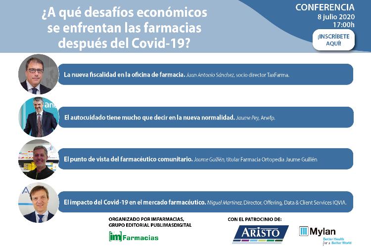 Apúntate a la Conferencia ¿A qué desafíos económicos se enfrentan las farmacias después del Covid-19?