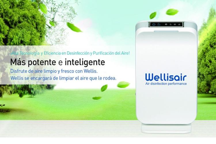 El purificador y desinfectante de aire y superficies Wellis elimina bacterias y virus (incluido el Covid-19)
