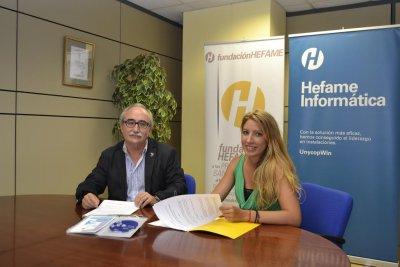acuerdo de colaboracion entre fundacion hefame y el centro de salud maria rafols